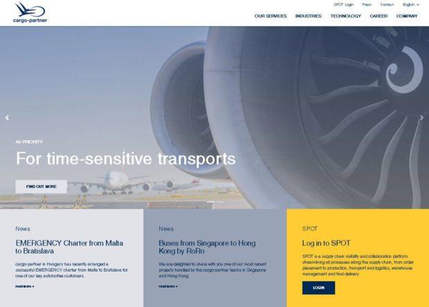 cargo-partner s novou internetovou stránkou