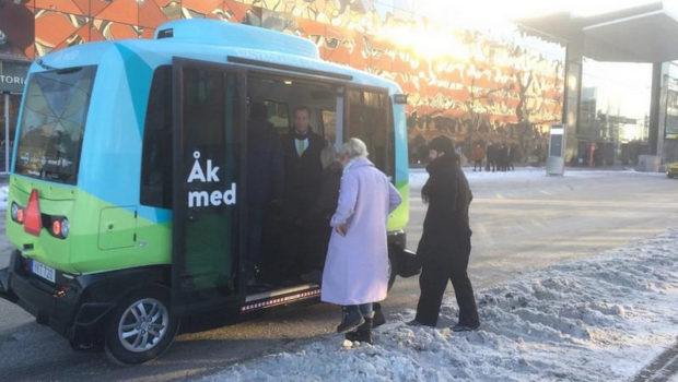 Štokholm testuje autonómne autobusy