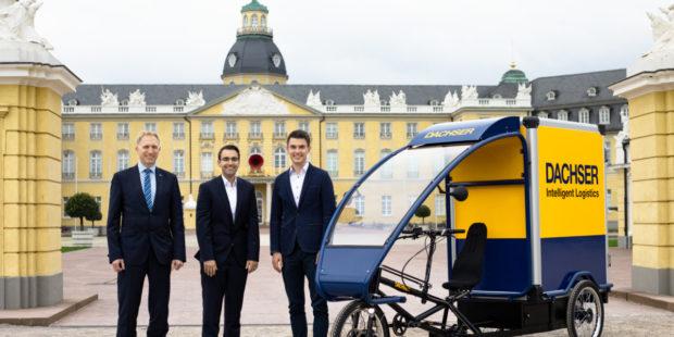 DACHSER Karlsruhe začal doručovať pomocou bicykla