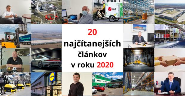 20 najčítanejších článkov na webe Systémov Logistiky za rok 2020