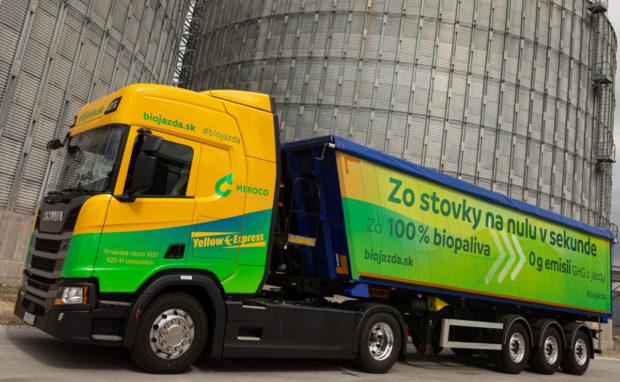 Prvý slovenský kamión na 100 % bionaftu