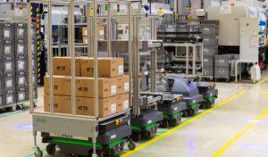Autonómne mobilné roboty MiR transformujú logistiku vo výrobnom zariadení TE Connectivity