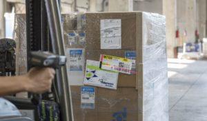 Pandémia zvýšila počet paliet s produktami na domáce práce otretinu